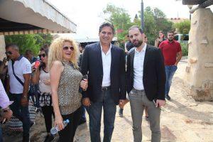 رئيس التحرير برفقة رئيس بلدية قانا والزميلة رنا رمضان