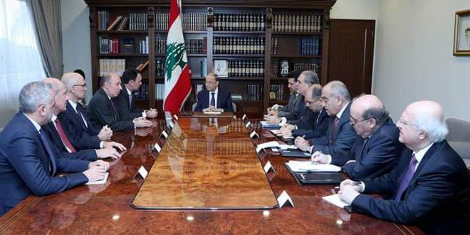 مجلس الوزراء اللبناني برئاسة حسان دياب
